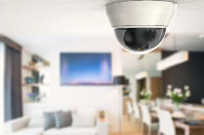 a security camera installed in a home