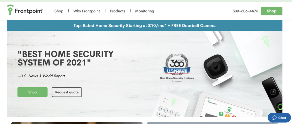 frontpoint home alarm system
