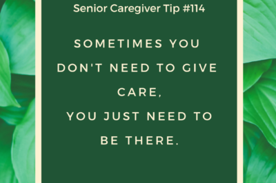 caregivers being there for seniors