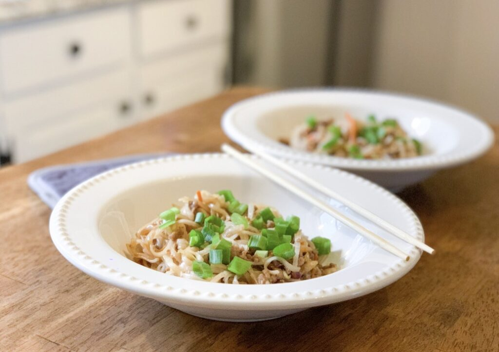 egg roll in a bowl with coconut aminos