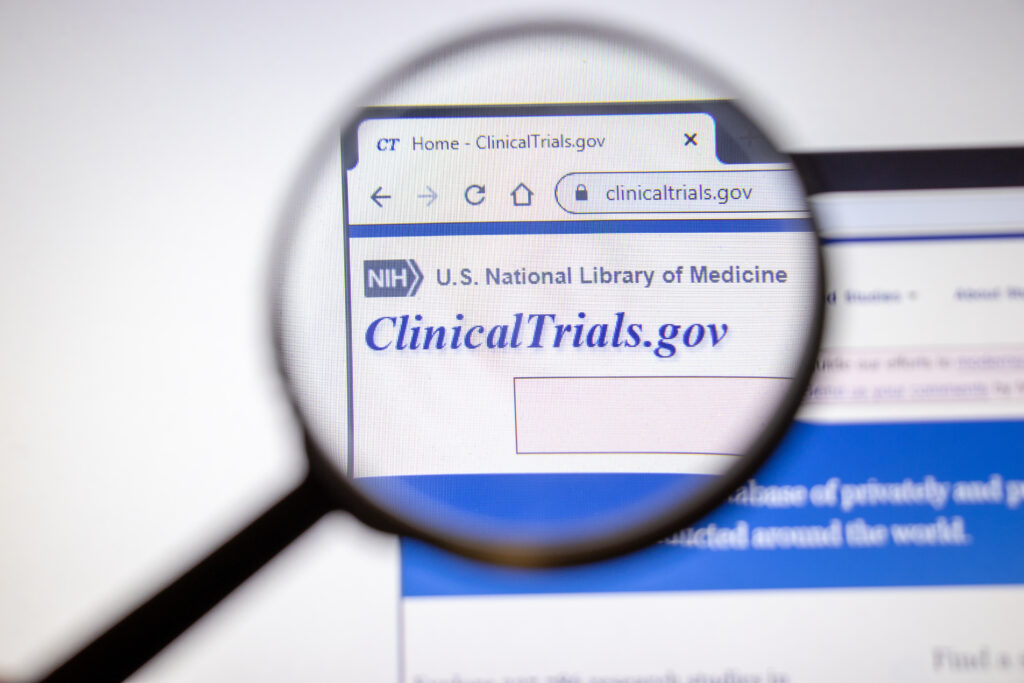 clinical trial website